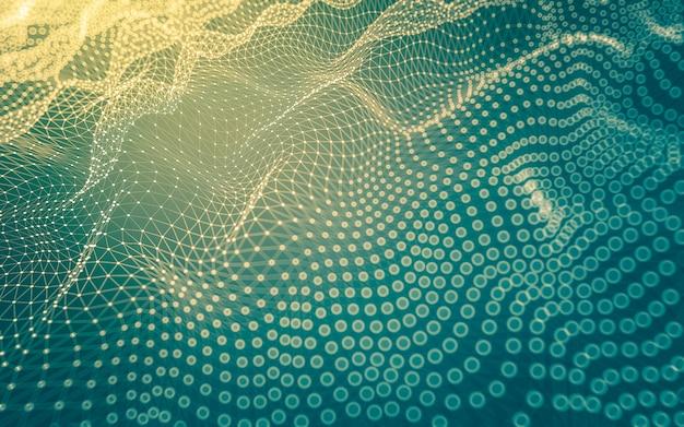 Abstrakter hintergrund. molekültechnologie mit polygonalen formen.