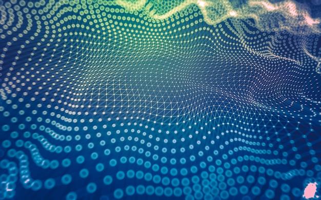 Abstrakter hintergrund. molekültechnologie mit polygonalen formen