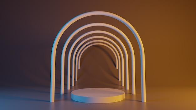 Abstrakter hintergrund. primitive geometrische formen. 3d-rendering.