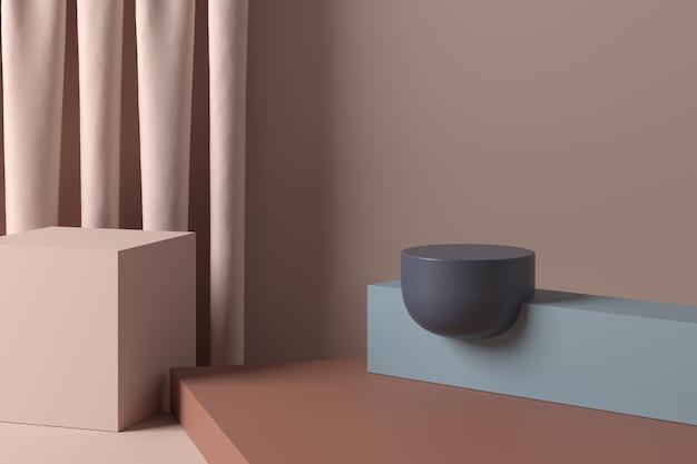 Abstrakter hintergrund, szene. 3d-rendering