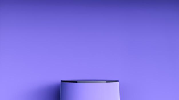 Abstrakter hintergrund, szene für produktanzeige. 3d marmor und keramik podium in einem dunklen raum interieur