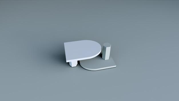 Abstrakter hintergrund, szene für produktanzeige. 3d-rendering