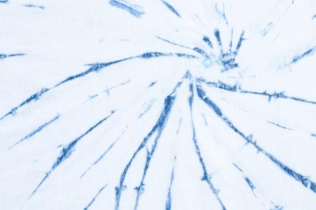 Abstrakter hintergrund tie dye swirl design bright blue native style, ansicht von oben