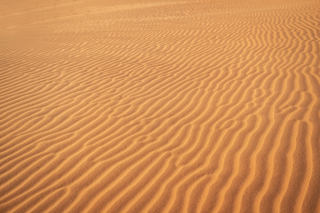 Abstrakter hintergrund und beschaffenheit der sandwellen in der wüste