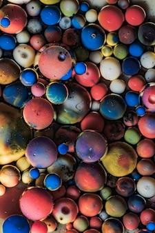 Abstrakter hintergrund von acrylfarben und öl. makrofoto