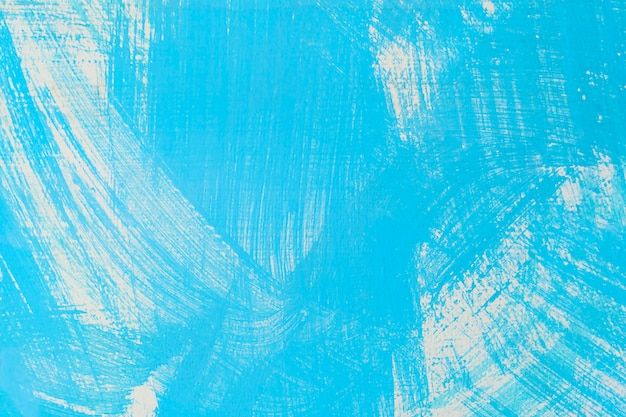 Abstrakter hintergrund von der blauen farbe gemalt auf alter betonmauer