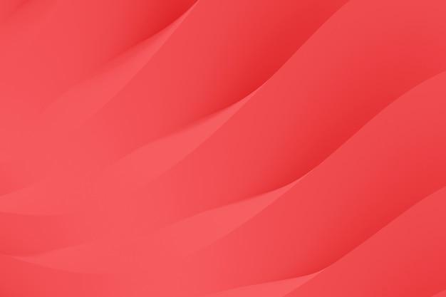 Abstrakter hintergrund von fließenden serpentinenwellen. lebende korallenrote abbildung der farbe 3d