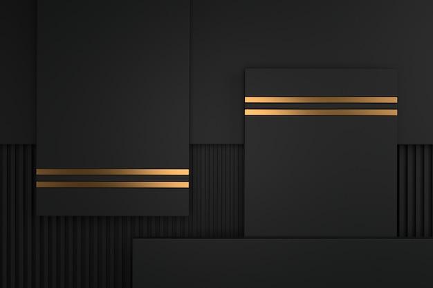 Abstrakter hintergrund von metallischem mit luxuskonzepten. 3d-rendering.