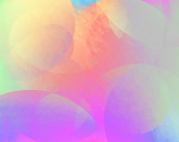 Abstrakter hintergrund von überlagerten leuchtenden durchscheinenden strukturierten farbigen kreisen