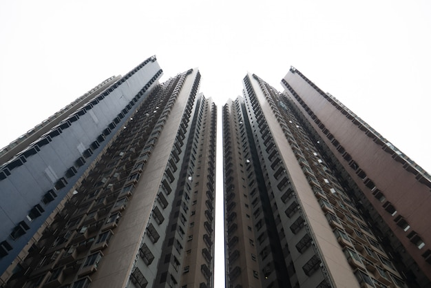 Abstrakter im stadtzentrum gelegener gebäudewohnsitzkondominiumwohnungswolkenkratzer