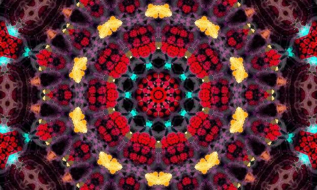 Abstrakter kaleidoskophintergrund. nahtloses muster des schönen kaleidoskops. bunte mosaiktextur. nahtlose kaleidoskop-textur