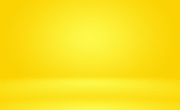 Abstrakter körper des leuchtenden gelben steigungsstudiowandraumhintergrundes.