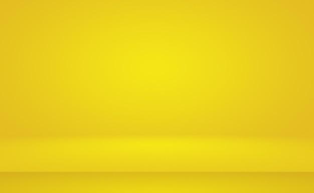 Abstrakter körper des leuchtenden gelben steigungsstudiowandraumhintergrundes
