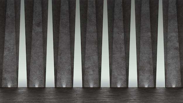 Abstrakter konkreter ausstellungsraum 3d