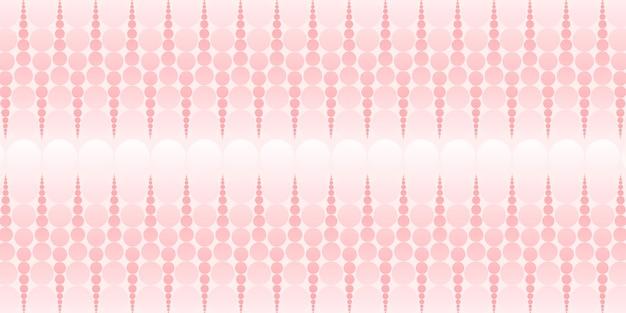 Abstrakter kreis und tupfenmuster pastellfarbene 3d-darstellung