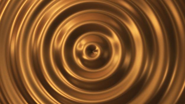 Abstrakter kreis welligkeit gold 3d welle