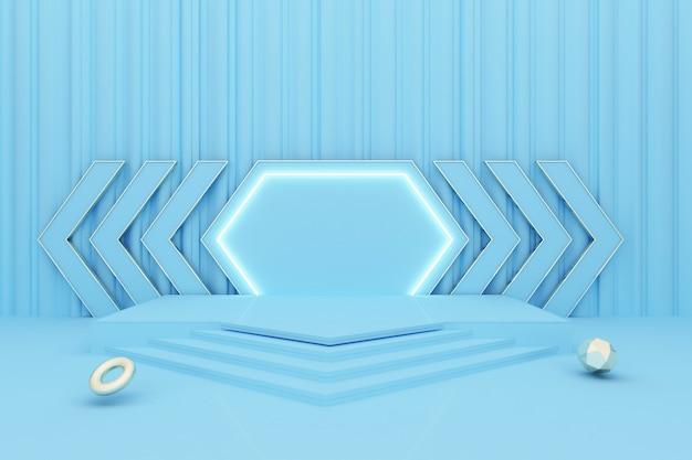 Abstrakter kreisförmiger hintergrund mit podium für produktanzeige