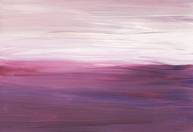 Abstrakter künstlerischer hintergrund, rosa, rote, weiße minimalistische pinselstriche auf papier