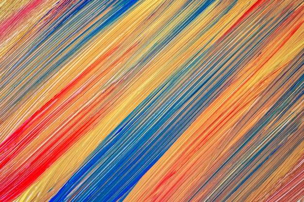 Abstrakter kunsthintergrund dunkle goldene, blaue und rote farben. aquarellmalerei auf leinwand mit orangefarbenen strichen und spritzern. acrylbild auf papier mit gelb geflecktem muster. textur-hintergrund.