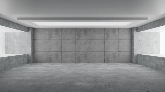 Abstrakter leerer betonraum