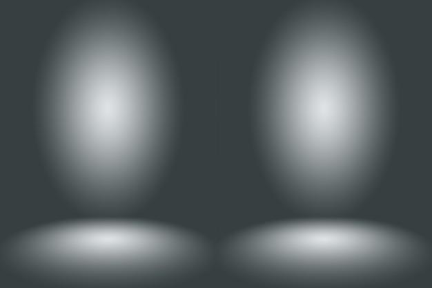 Abstrakter leerer dunkelweißer grauer farbverlauf mit schwarzer solider vignette-beleuchtung studiowand und bodenhintergrund gut als hintergrund verwenden. leerer weißer raum im hintergrund mit platz für ihren text und ihr bild.