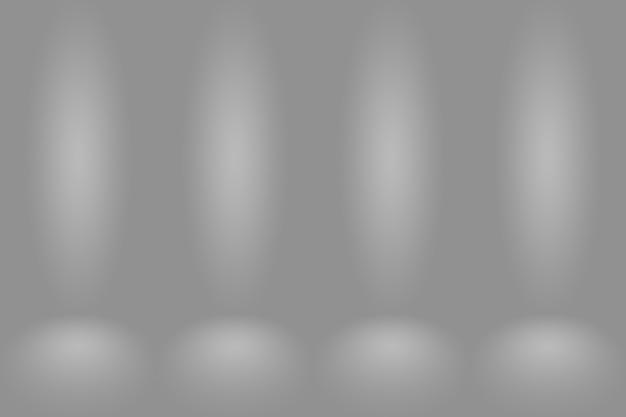 Abstrakter leerer dunkelweißer grauer farbverlauf mit schwarzer solider vignettenbeleuchtung studiowand und bodenhintergrund gut als hintergrund verwenden. leerer weißer raum im hintergrund mit platz für ihren text und ihr bild.