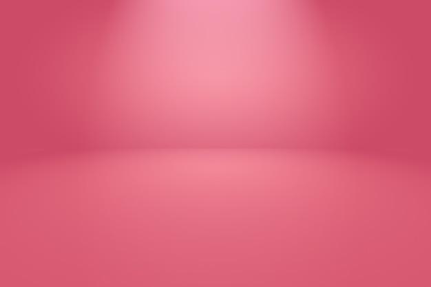 Abstrakter leerer glatter hellrosa studioraumhintergrund.