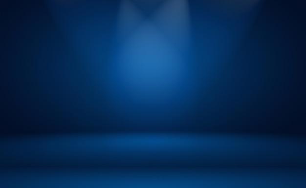 Abstrakter luxuriöser blauer hintergrund mit farbverlauf glatt dunkelblau mit schwarzem vignette-studio-banner