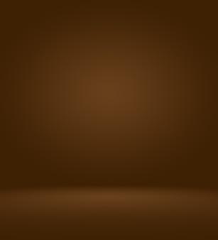 Abstrakter luxuriöser dunkelbrauner und brauner farbverlauf mit brauner randvignette, studiohintergrund - gut als hintergrundhintergrund, brett, studiohintergrund zu verwenden.