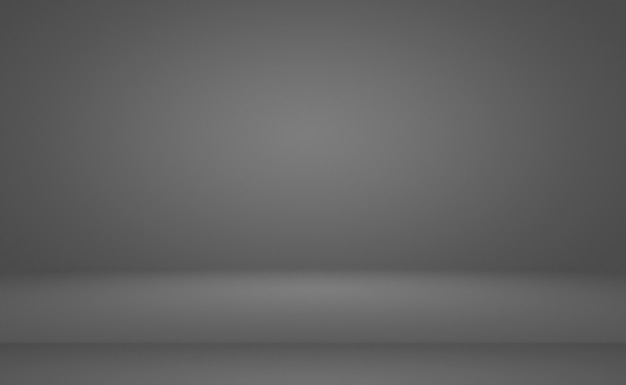 Abstrakter, luxuriöser, schlichter, grauer und schwarzer farbverlauf, der als hintergrundstudiowand für die anzeige ihres ...