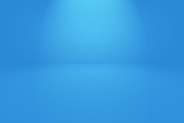 Abstrakter luxus-farbverlauf blauer hintergrund. glattes dunkelblau mit schwarzer vignette.