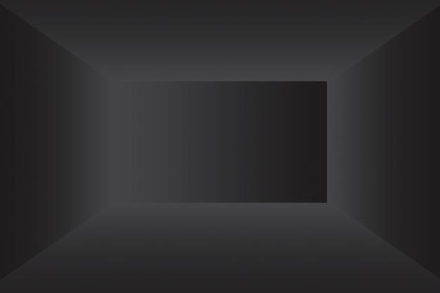 Abstrakter luxus-unschärfe dunkelgrauer und schwarzer farbverlauf, der als hintergrundstudiowand für die anzeige ihres pr...