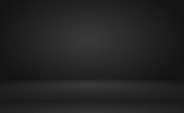 Abstrakter luxus verwischt dunkelgrauen und schwarzen farbverlauf, der als hintergrundstudiowand für die anzeige ihrer produkte verwendet wird.