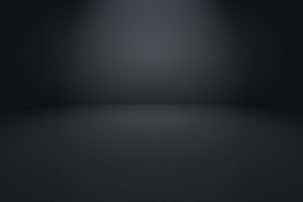 Abstrakter luxus verwischt dunkelgrauen und schwarzen farbverlauf, der als hintergrundstudiowand verwendet wird.