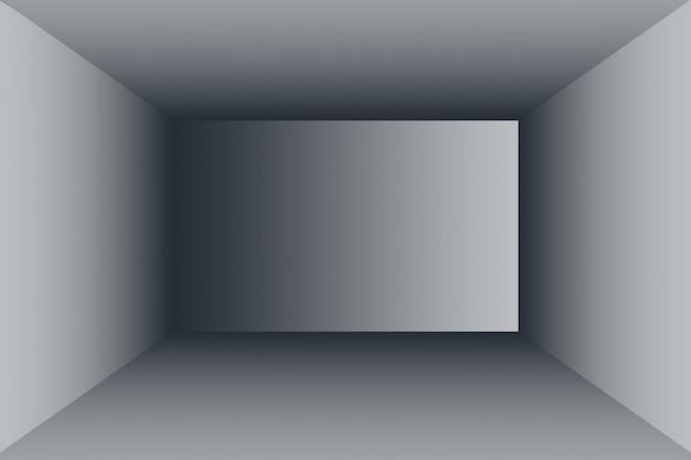 Abstrakter luxus verwischt dunkelgraues und schwarzes farbverlauf, verwendet als hintergrundstudiowand für die anzeige ihrer produkte.