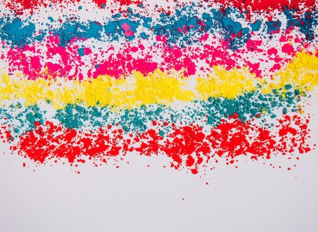 Abstrakter mehrfarbiger hintergrund mit kopierraum. indisches holi festival des farbkonzepts