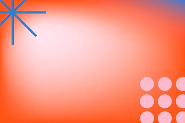Abstrakter memphis-roter hintergrundverlauf mit geometrischen formen