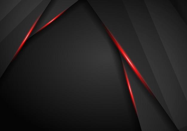 Abstrakter metallischer hintergrund mit schwarzem rotem rahmensport