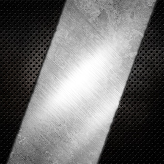 Abstrakter metallischer hintergrund mit zerkratztem grunge-effekt Premium Fotos