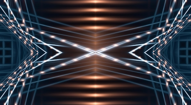 Abstrakter moderner dunkler hintergrund mit strahlen und linien