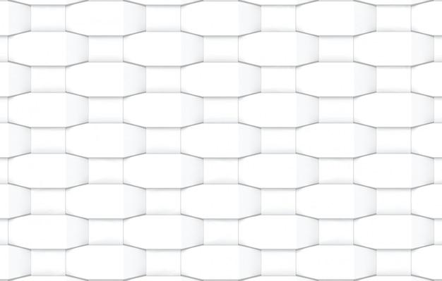 Abstrakter moderner weißer spinnender quadratischer formmuster-wandhintergrund.