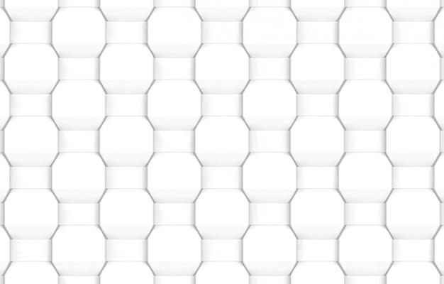 Abstrakter moderner weißer spinnender sechseckiger formmuster-wandhintergrund.