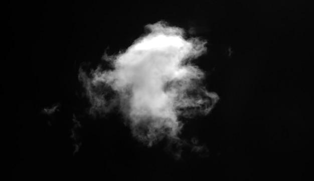 Abstrakter nebel- oder raucheffekt isoliert auf schwarz