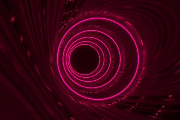 Abstrakter neonkreishintergrund