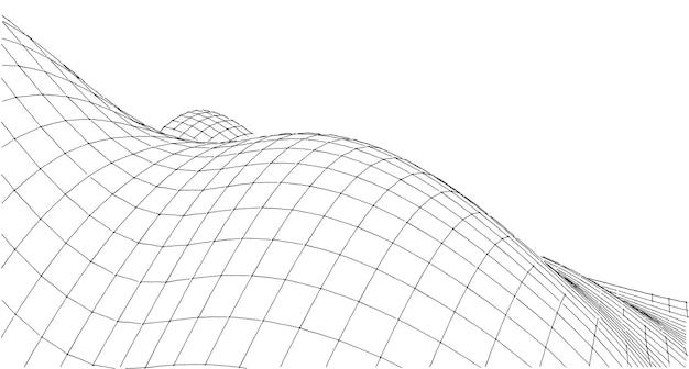 Abstrakter netzwerkrasterhintergrund, netzwerk, verbindungen, computer und technologieidee