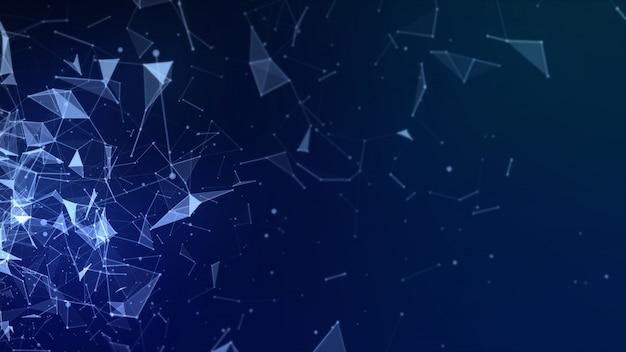 Abstrakter niedriger polygonhightechhintergrund