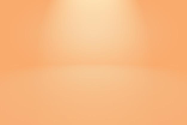 Abstrakter orange hintergrund mit glatter kreisverlaufsfarbe.