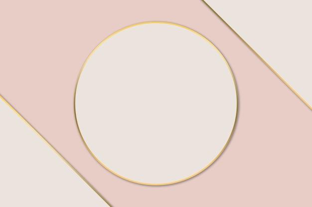 Abstrakter pastellrosahintergrund und goldränder. schönheits- und modelogohintergrund.