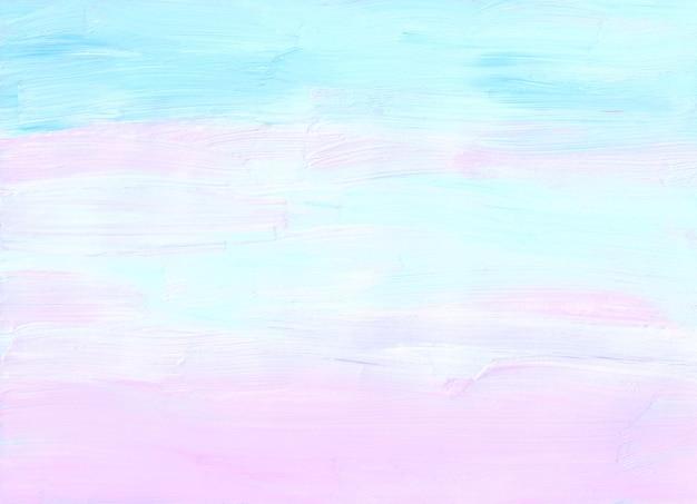 Abstrakter pastellweicher rosa, blauer und weißer hintergrund
