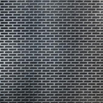 Abstrakter perforierter metallischer hintergrund mit kratzern und flecken